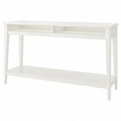 ЛИАТОРП Консольный стол,белый,стекло